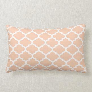 Apricot Wht Moroccan Quatrefoil Trellis Pattern 2 Lumbar Cushion