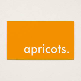 apricots. business card