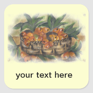 APRICOTS SQUARE STICKER