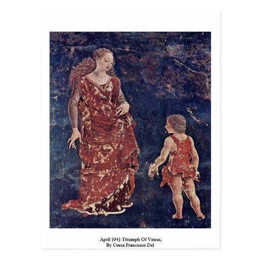 April [04]-Triumph Of Venus By Cossa Francesco Del Postcard