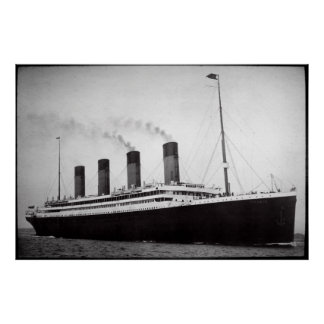 APRIL 10, 1912 TITANIC DEPARTS from SOUTHAMPTION Poster