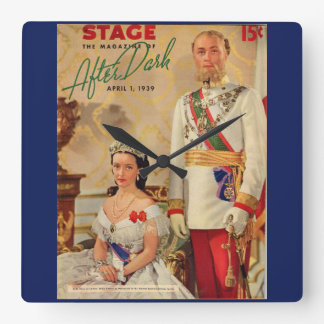 April 1939 Stage Magazine cover Square Wall Clock