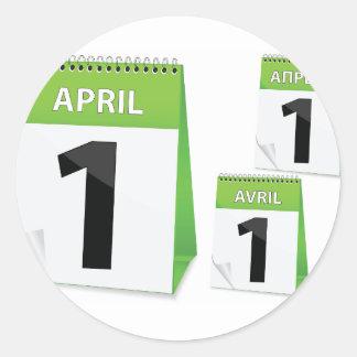 April 1st Calendar Stickers
