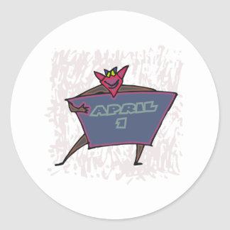 April 1st round sticker
