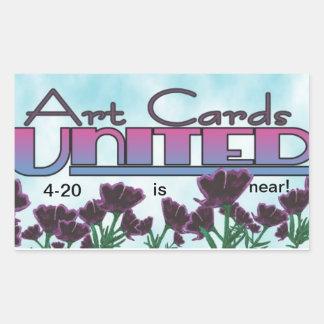 April 20th rectangular sticker