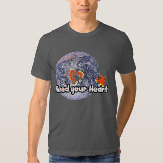 April 22 Earth Day(Need your Heart)T-shirts T Shirt
