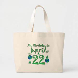 April 22nd Earth Day Birthday Canvas Bags