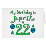 April 22nd Earth Day Birthday Card