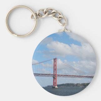 April 25th Bridge Basic Round Button Key Ring