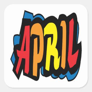 April 2 square sticker