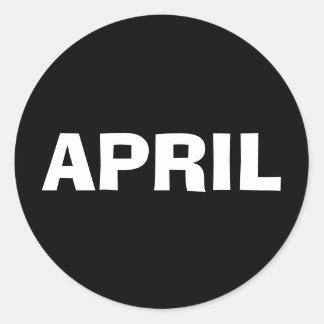 April Ad Lib Black Sticker by Janz