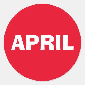 April Ad Lib Red Sticker by Janz