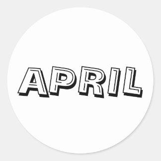April Alphabet Soup White Sticker by Janz