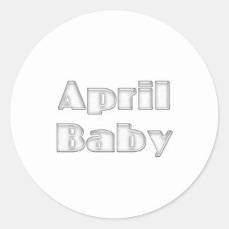 April Baby Round Sticker