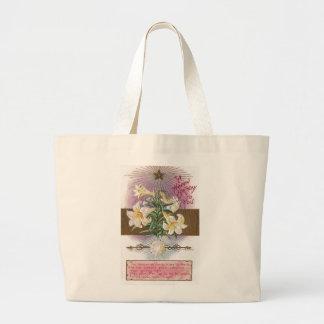 April Birthday Lily and Diamond Birthstone Bags