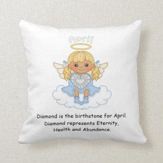 April Birthstone Angel Blonde Cushion