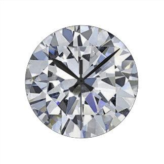 April Birthstone - Diamond Clock