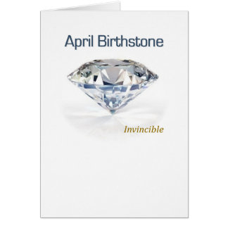 April Birthstone - The Invincible Diamond - Card