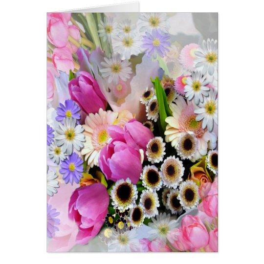 April Bouquet Card