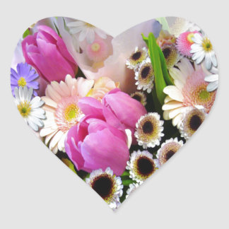 April Bouquet Heart Sticker