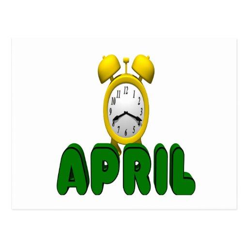April Countdown Postcards