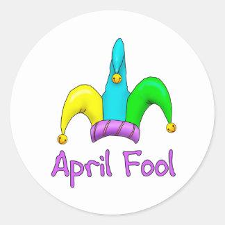 April Fool Classic Round Sticker