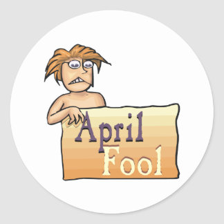 April Fool Round Sticker