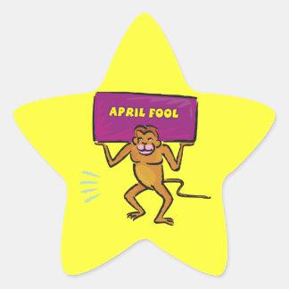 April Fool Star Sticker
