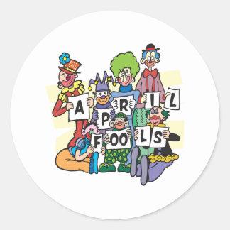April Fools Classic Round Sticker
