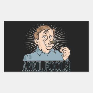 April Fools Rectangular Sticker