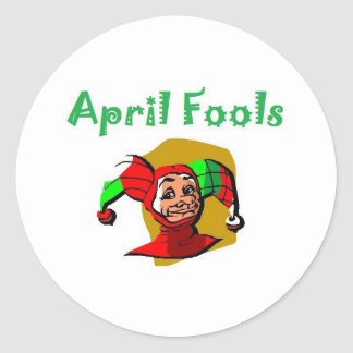 April Fools Round Sticker