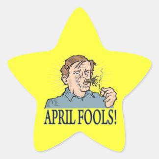 April Fools Star Sticker