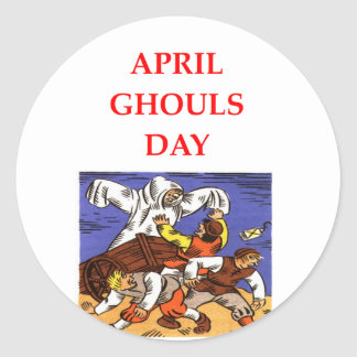april ghouls day stickers