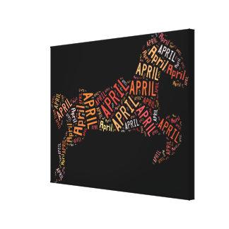 April Horse Gallery Wrap Canvas