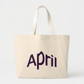 April Large Tote Bag
