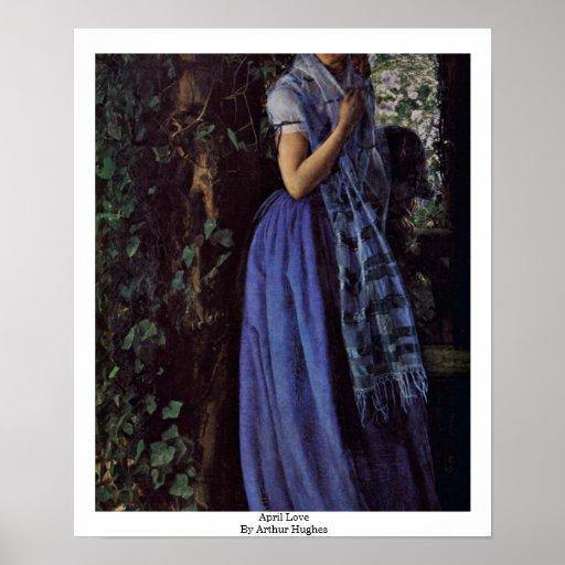 April Love By Arthur Hughes Print