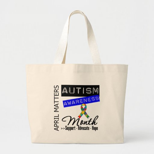 April Matters - Autism Awareness Month Canvas Bags