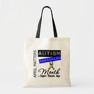 April Matters - Autism Awareness Month Budget Tote Bag