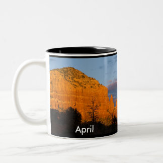 April on Moonrise Glowing Red Rock Mug