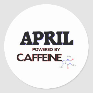 April powered by caffeine stickers
