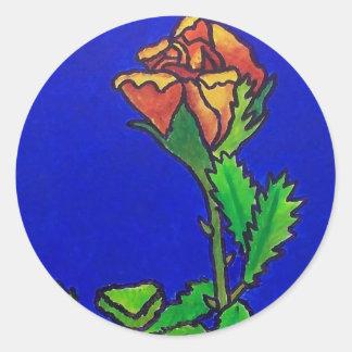 April Rose Round Sticker