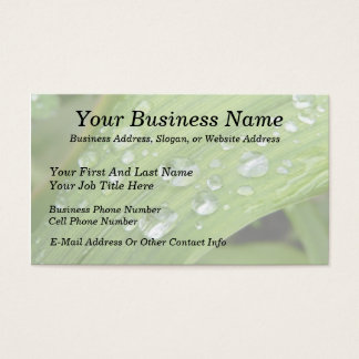 April Showers Business Card