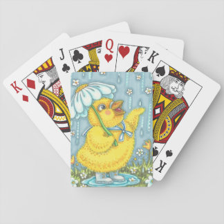 APRIL SHOWERS CHICK PLAYING CARDS Poker