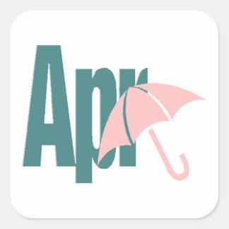 April Square Sticker