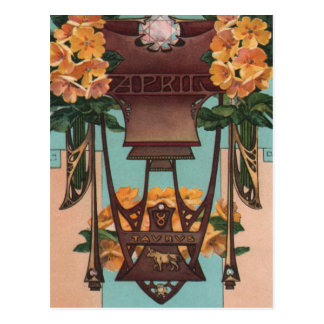 April - Taurus Postcard