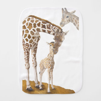 April The Giraffe Burp Cloth