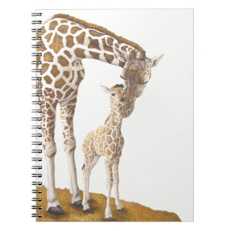 April The Giraffe Spiral Notebook