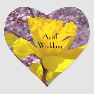 April Wedding seals envelopes Invitations Daffodil Stickers