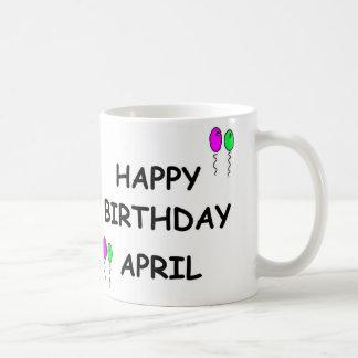 APRILS BIRTHDAY MUG