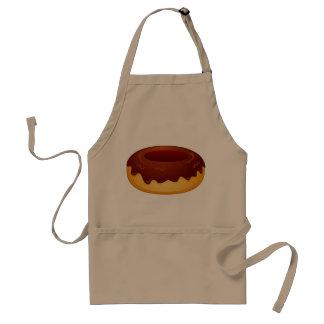 apron chocolate covered donut khaki
